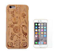 cheap -Case For Apple iPhone 6 iPhone 6 Plus Shockproof Full Body Cases Geometric Pattern Hard Bamboo for iPhone 6s Plus iPhone 6s iPhone 6 Plus