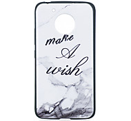 cheap -Case For Motorola MOTO G5 Plus MOTO G5 Pattern Back Cover Word / Phrase Marble Soft TPU for Moto G5 Plus Moto G5 Moto G4 Plus Moto G4