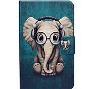 Недорогие -Кейс для Назначение SSamsung Galaxy Tab 3 Lite Бумажник для карт со стендом Флип С узором Чехол Слон Твердый Кожа PU для Tab 3 Lite