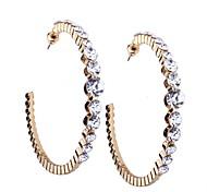 abordables -Femme Abeille Strass Boucles d'oreille gitane - Métallique / Décontracté Or / Argent / Preto e Prateado Forme de Cercle Des boucles