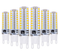 cheap -YWXLIGHT® 6pcs 5W 400-500lm G9 LED Bi-pin Lights T 72 LED Beads SMD 2835 Dimmable Warm White Cold White 220-240V