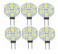 abordables -SENCART 6pcs 2W 360lm G4 Luces LED de Doble Pin T 9 Cuentas LED SMD 5730 Decorativa Blanco Cálido 12V