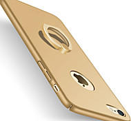 cheap -Case For Apple iPhone 7 iPhone 6 Plus Shockproof Ring Holder Back Cover Solid Color Hard PC for iPhone X iPhone 7 Plus iPhone 7 iPhone 6s