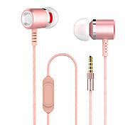 cheap -Earphones (Earbuds, In-Ear) Wired Headphones Piezoelectricity Plastic Shell Mobile Phone Earphone Headset