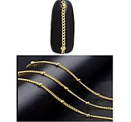Недорогие -1 Гель для ногтей Отделка и украшения металлический Одежда в стиле Панк Дизайн ногтей