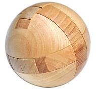 cheap -KINGOU Wooden Puzzle Magic Ball Luban Lock Focus Toy Stress and Anxiety Relief Wooden 1pcs Gift