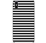 Недорогие -Кейс для Назначение Apple iPhone X iPhone 8 С узором Кейс на заднюю панель Полосы / волосы Мягкий ТПУ для iPhone X iPhone 8 Pluss iPhone