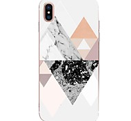 cheap -Case For Apple iPhone X iPhone 8 Ultra-thin Pattern Back Cover Geometric Pattern Marble Soft TPU for iPhone X iPhone 8 Plus iPhone 8