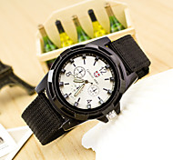 cheap -Men's Quartz Chinese Casual Watch Fabric Band Fashion Black Blue Dark Green