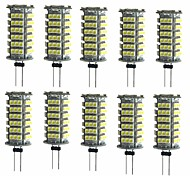 abordables -10pcs 2W 200 lm G4 LED à Double Broches T 1 diodes électroluminescentes SMD 3528 Décorative Blanc Chaud Blanc Froid DC 12V