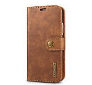 cheap -Case For Apple iPhone X iPhone 8 Card Holder with Stand Flip Full Body Cases Solid Color Hard Genuine Leather for iPhone X iPhone 8