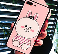 cheap -Case For Apple iPhone X iPhone 7 Plus Pattern Back Cover Cartoon Hard Tempered Glass for iPhone X iPhone 8 Plus iPhone 8 iPhone 7 Plus