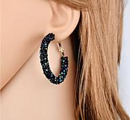 Недорогие -Жен. Серьги-кольца - Мода, Элегантный стиль Черный / Темно-синий Назначение Подарок / Для вечеринок