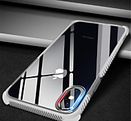 cheap -Case For Apple iPhone X iPhone 7 Plus Pattern Transparent Body Back Cover Solid Color Soft TPU for iPhone X iPhone 8 Plus iPhone 8 iPhone