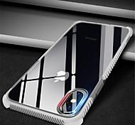 Недорогие -Кейс для Назначение Apple iPhone X iPhone 7 Plus С узором Прозрачный Body Кейс на заднюю панель Сплошной цвет Мягкий ТПУ для iPhone X