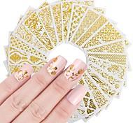 Недорогие -20 Ножницы Цветы Наклейки для ногтей Наклейки Дизайн ногтей наборы Сделай-сам