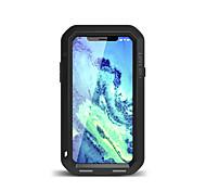 Недорогие -Кейс для Назначение Apple iPhone X Вода / Грязь / Надежная защита от повреждений Чехол Сплошной цвет Твердый Металл для iPhone X