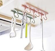 Недорогие -1 комплект Полки и держатели Пластик Творческая кухня Гаджет Кухонная организация
