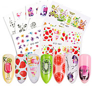 cheap -58 Stickers & Tapes Water Transfer Sticker Nail Sticker Cute Nail Decals Accessory Stickers Nail Art Forms Nail Art Design DIY