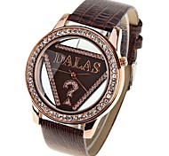 cheap -JUBAOLI Women's Quartz Fashion Watch Chinese Casual Watch Leather Band Cool Red