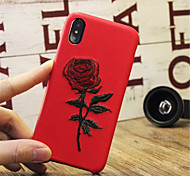 cheap -Case For Apple iPhone X iPhone 7 Plus Pattern Embossed Back Cover Flower Hard PU Leather for iPhone X iPhone 8 Plus iPhone 8 iPhone 7