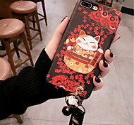 cheap -Case For Apple iPhone X iPhone 7 Plus Pattern Back Cover Cartoon Hard Silicone for iPhone X iPhone 8 Plus iPhone 8 iPhone 7 Plus iPhone 7