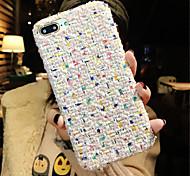 Недорогие -Кейс для Назначение Apple iPhone X iPhone 7 Plus С узором Кейс на заднюю панель Полосы / волосы Мягкий текстильный для iPhone X iPhone 8