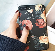 cheap -Case For Apple iPhone X / iPhone 7 Plus Pattern Back Cover Flower Soft TPU for iPhone X / iPhone 8 Plus / iPhone 8