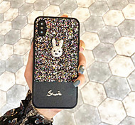 cheap -Case For Apple iPhone X iPhone 7 Plus Pattern Back Cover Glitter Shine Soft Silicone for iPhone X iPhone 8 Plus iPhone 8 iPhone 7 Plus