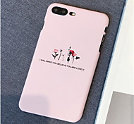 Недорогие -Кейс для Назначение Apple iPhone X / iPhone 7 Plus Матовое / С узором Кейс на заднюю панель Цветы Твердый ПК для iPhone X / iPhone 8