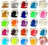 Недорогие -1 Порошок блеска Пайетки Блестящие Советы для ногтей