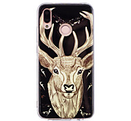 cheap -Case For Huawei P20 lite P20 Pro Glow in the Dark IMD Pattern Back Cover Shine Animal Soft TPU for Huawei P20 lite Huawei P20 Pro Huawei