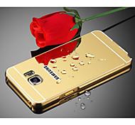 Недорогие -Кейс для Назначение SSamsung Galaxy S8 Plus S8 Зеркальная поверхность Кейс на заднюю панель Однотонный Твердый Металл для S8 Plus S8 S7