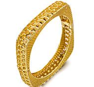 cheap -Women's Cuff Bracelet - Metallic Fashion Geometric Gold Bracelet For Party Gift