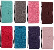 cheap -Case For Samsung Galaxy A5(2017) A3(2017) Card Holder Wallet with Stand Flip Pattern Embossed Full Body Cases Mandala Hard PU Leather for