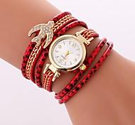 preiswerte -Damen Quartz Armband-Uhr Chinesisch Imitation Diamant Armbanduhren für den Alltag PU Band Freizeit Böhmische Schwarz Weiß Blau Rot Grün
