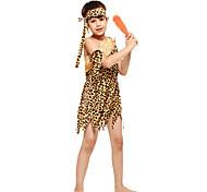 Недорогие -Индийский Костюм Детские Маскарад Фестиваль / праздник Костюмы на Хэллоуин Желтый Американский / США Этнический