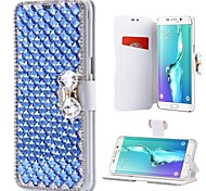 cheap -Case For Samsung Galaxy Note 8 Note 5 Card Holder Rhinestone with Stand Flip Full Body Cases Solid Colored Hard PU Leather for Note 8