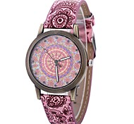 Недорогие -Жен. Кварцевый Модные часы Китайский Крупный циферблат PU Группа На каждый день Мода Черный Синий Оранжевый Зеленый Розовый