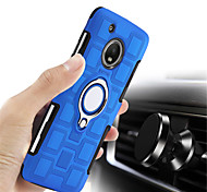 cheap -Case For Motorola MOTO G5 Plus MOTO G4 Plus Shockproof Ring Holder Back Cover Solid Colored Hard PC for Moto X4 Moto G5s Plus Moto G5s