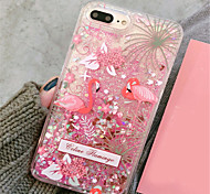 cheap -Case For Apple iPhone X / iPhone 7 Plus Flowing Liquid / Pattern Back Cover Glitter Shine Hard PC for iPhone X / iPhone 8 Plus / iPhone 8