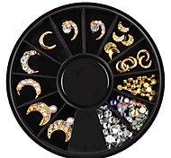 Недорогие -1 pcs Украшения для ногтей металлический / горный хрусталь Специально разработанный На каждый день Бижутерия / Дизайн ногтей