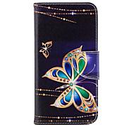 abordables -Coque Pour Huawei P20 lite P20 Porte Carte Portefeuille Avec Support Clapet Motif Coque Intégrale Papillon Dur faux cuir pour Huawei P20
