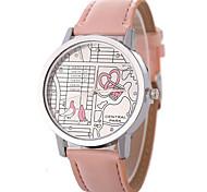 preiswerte -Damen Quartz Modeuhr Chinesisch Armbanduhren für den Alltag PU Band Modisch Cool Schwarz Weiß Blau Orange Braun Rosa