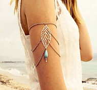 cheap -Turquoise Arm Cuff / Arm bands Leaf Vintage, Bohemian, Boho Women's Silver Body Jewelry For Carnival / Street