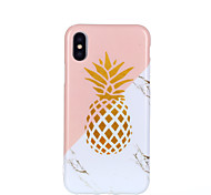 cheap -Case For Apple iPhone X iPhone 8 Shockproof IMD Pattern Back Cover Marble Fruit Soft TPU for iPhone X iPhone 8 Plus iPhone 8 iPhone 7