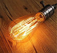 cheap -1pc 40W E26/E27 ST64 Warm White 2200-2700k K Retro Dimmable Decorative Incandescent Vintage Edison Light Bulb 220-240V