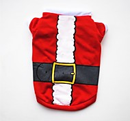 cheap -Dogs / Cats / Pets Vest Dog Clothes Christmas / American / USA / Cartoon Red Cotton Costume For Pets Female Party / Holiday