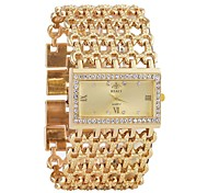cheap -Women's Quartz Wrist Watch Chinese Chronograph / Imitation Diamond / Casual Watch Alloy Band Luxury / Bangle Silver / Gold