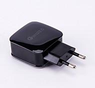 baratos -Carregador de Base Carregador USB Ficha EU / USB QC 3.0 1 Porta USB 3 A DC 12V-24V